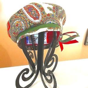 60's Mr John Originals Paisley UNION PILLBOX Hat